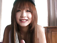 Cute Asian Teen In Cap Sana Anzyu Gives Her Head On A Pov Camera