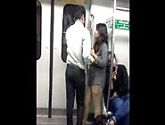 Desperate Indian Lovers In Delhi Metro Kissing - Indian Sex