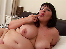 Raven-Haired Older Bbw Andi Strips Down In Order To Pleasure Her