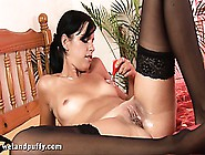 Jackie Does The Pump And Plumps Up Her Puss For Masturbation Fun