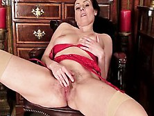 Sophia - Amateur Hairy Pussy Solo Masturbation