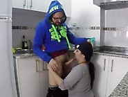 Homemade Shot Of A Plump Teen Sucking In The Kitchen