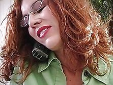 Horny Redhead Momma With Glasses Gives Blowjob