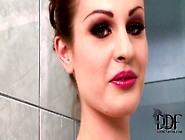 Lataya Roxx Soaps Up Her Natural 36Dd Juggs In The Bathtub