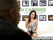 Brunette Teen Fingered And Fucked During A Surprise Bdsm Casting