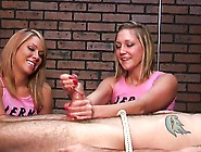 Laughting Blondes Deny And Ruin The Orgasm