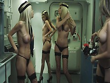 Several Hot Ladies Get Naked In A Plane And Have A Great Time