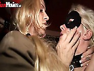 Kinky Tied Up Blonde Getting Spanked By Tough Guy