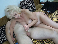 Cum-Addicted Granny Gives Her Lover A Nice Blowjob In 69 Positio