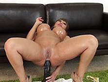 Big Breasted Cougar In Heat Ava Devine Buries A Huge Dildo In He