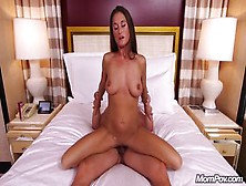 Beautiful Busty Milf With Shaved Pussy Loves Riding Hard Cock In