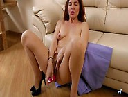 Sexy Mature Redhead Monika Has Solo Dildo Sex At Home