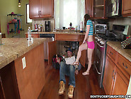 Bambi Brooks Seduces A Plumber And Fucks Him In The Kitchen