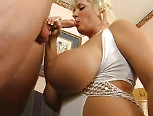 Busty Blonde Cougar Milf Getting Fucked As A Birthday Gift