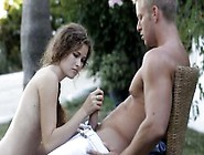Cute Teen Slurps Off Hard Dick For The First Time Outdoors