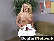 Gorgeous Blonde With Curly Hair,  Britney Young Took Off Her Dres