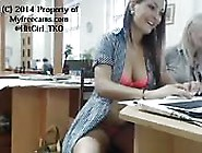 College Girls Tease On Camera In Library