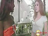 Interracial Threesome Horny Amateur Teen Bitches Wet Cunt Suckin