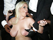 Lusty Big Boobs Blonde Hoe Cindee Sucked Many Black Cocks