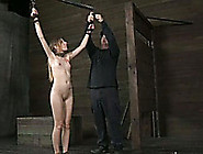 Lovely Blonde Girl Bounded With Ropes Is Spanked By Her Master