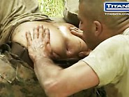 Hot Military Guy Gets Pissed On And Sucked Off