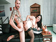 Brunette Italian Cougar Goes For Sex With Younger Stud,  Gets Cum