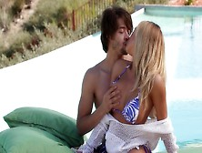 Young Couple Spends Summer Vacations Having Sex By The Pool