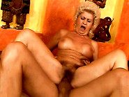Insanely Horny Granny With Hairy Pussy Is Riding Hard Dick Like