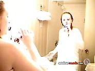 Self Shot Chubby Blonde Teen Strip Tease