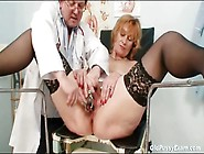 Doctor Closely Examines Her Mature Pussy