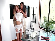 Busty Ebony Chanell Heart Licking Veronica Rodriguez