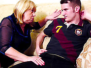 Handy Youngster Has To Fuck With Curvy Blnde Mature Lady Really