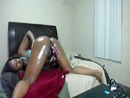Flexible Chocolate Squirter Nyna Stax With A Bouncing Booty
