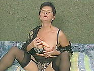 Nice Ass Granny Pleasured Hardcore Doggystyle While Moaning