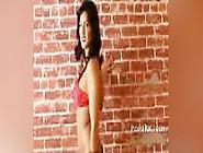 Sunny Leone Strip Tease Hot Brunette Teasing