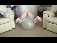 A Wife Ride Big Ball And Dildo Homemade