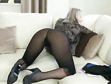 Mature Whore In Pantyhose In High Heels Teasing Men With Her Ama