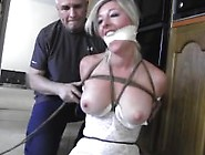 Tied Up In Lingerie And Fondled
