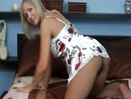 Ala In Nightgown And Nude Pantyhose And Red Lace Panties