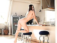 Teen Wow Beauty Fingering In A Kitchen