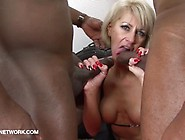 Interracial Threesome Mature Double Penetration Fuck