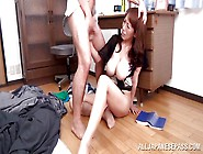 Busty Japanese Mature Gets Mouth Fucked