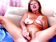 Super Horny Granny Ride Dildo With Passion