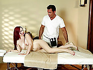 Her Masseuse Rubs Her Down Then Fucks Her Brains Out