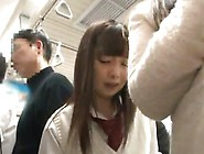 Japanese Nymph Inside School Uniform Has Shaged Inside The Subwa