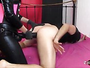 Dominant Mistress Penetrates Slaves Tight Ass With Big Strapon
