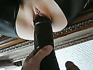 Gaping The White Pussy Of Slutty Girl With A Big Dildo And My Bb