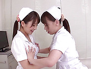 Lesbian Nurses Take A Break From Work To Eat Pussy