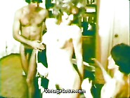Blonde Girl In A Wild Group Sex (1970S Vintage)