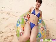 La Giovane Giapponesina Sogna Di Essere In Spiaggia